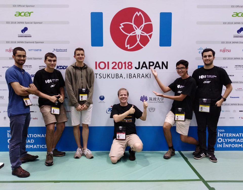 Delegação portuguesa nas IOI 2018 - Japão