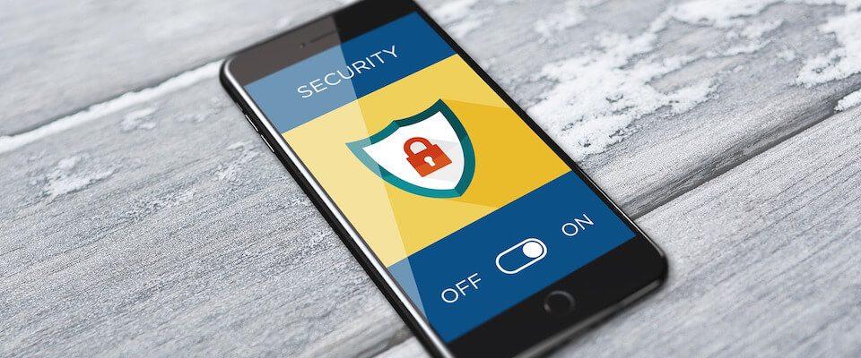 Smartphone com proteção