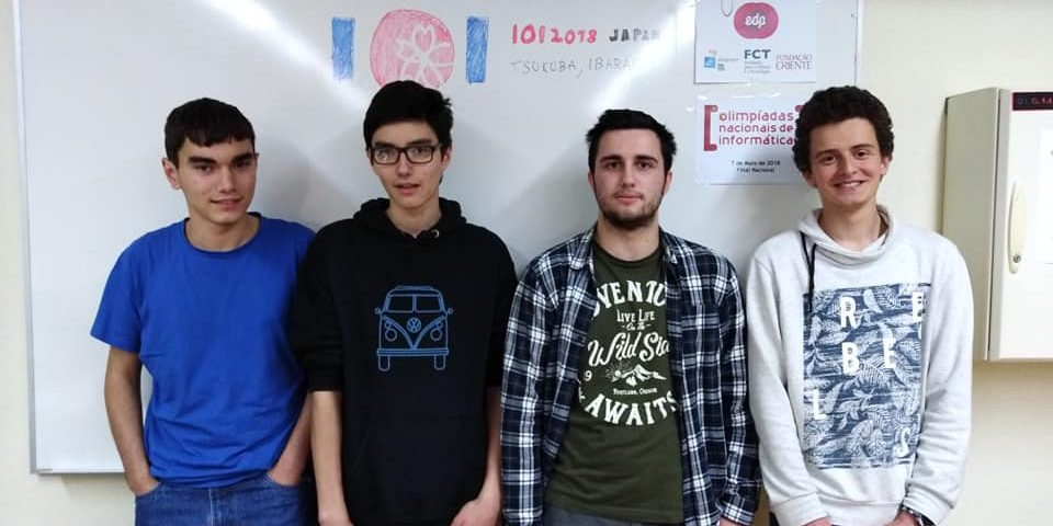 Os 4 alunos que vão às IOI 2018 no Japão
